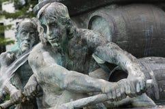 History Fountain, Koblenz Stock Photo