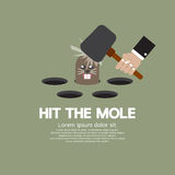 Hit The Mole Fun Game Stock Images