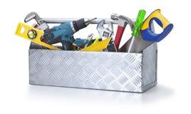 hjälpmedel för askhjälpmedeltoolbox Arkivbild