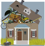 Hoarder House Royalty Free Stock Photography