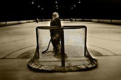 Hockey net Stock Photo