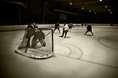 Hockey net Stock Image