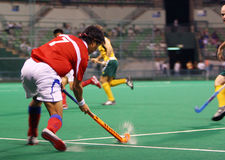 Hockey Player In Action Royalty Free Stock Images