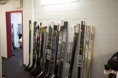 Hockey Sticks Stock Photo