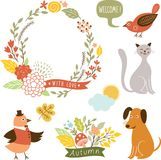 Holiday graphic elements, vector collection Royalty Free Stock Images
