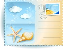 Holidays on the beach, postcard Royalty Free Stock Images