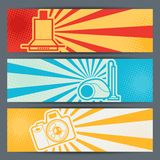 Home appliances and electronics horizontal banners Stock Photography