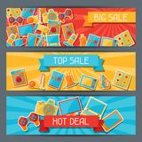 Home appliances and electronics horizontal banners Stock Photo