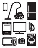 Home appliances and electronics Royalty Free Stock Image