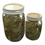 Home canned sweet pickles Stock Photo