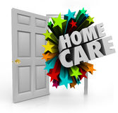 Home Care Open Door Hospice Physical Therapy Treatment House Cal Royalty Free Stock Photos