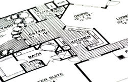 Home Plans Stock Image
