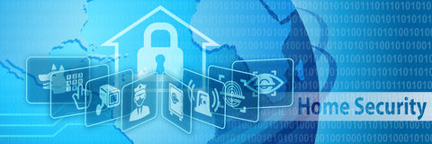 Home Security Protection Banner Stock Photography