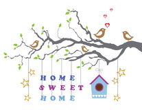 Home sweet home moving-in new house greeting card Royalty Free Stock Photo