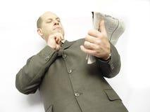 Homem de negócios com papel Fotos de Stock
