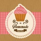 Homemade cupcake, vector Stock Photo