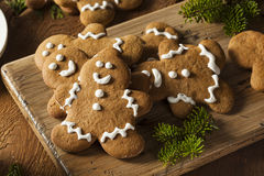 Homemade Decorated Gingerbread Men Cookies Royalty Free Stock Photo