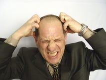 Homme d'affaires frustrant Photos stock