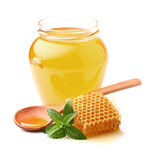 Honey with mint Stock Image