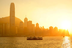 Hong Kong with heavy smog Royalty Free Stock Photography