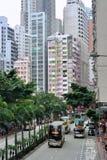 Hong- Kongstraße und -bus Stockfotos