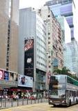 Hong- Kongteleshop und -bus Stockbild
