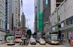 Hong- Kongteleshopverkehr Stockfotos