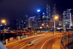 Hongkong central night scene,street view of China  city, travel tourism tour Traveling in China ,Asia Stock Photography