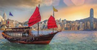Hongkong harbor Royalty Free Stock Photo