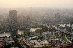 Horizon van Egypte Kaïro Royalty-vrije Stock Foto