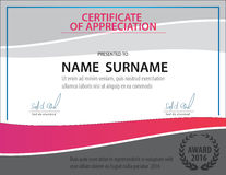 Horizontal certificate template,diploma,Letter size ,vector Royalty Free Stock Images