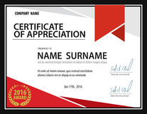 Horizontal certificate template,diploma,Letter size ,vector Stock Images