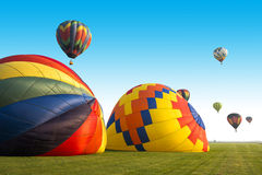 Hot Air Balloon or Balloons, Lots of Colors Royalty Free Stock Photography