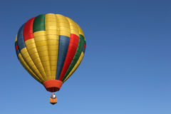 Hot air balloon in flight Royalty Free Stock Images