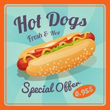 Hot Dog Poster Stock Images