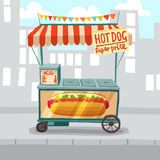 Hot Dog Street Shop Royalty Free Stock Photography