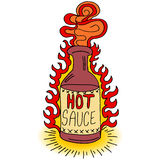 Hot Sauce Bottle Royalty Free Stock Images