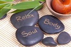 Hot spa stones Stock Photos