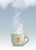 Hot steaming drink Royalty Free Stock Image