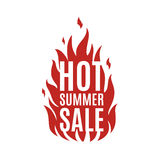 Hot summer sale banner Royalty Free Stock Photos