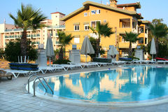 Hotel in Turkey Royalty Free Stock Photography