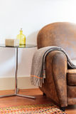 House decoration details sofa with blanket Royalty Free Stock Photos