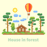 House in forest Stock Images