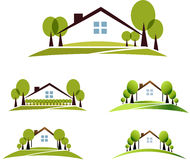 House and garden Stock Photography