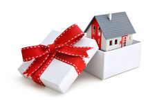 House in gift box Stock Photo