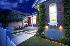 House Home Night Lights Royalty Free Stock Photos