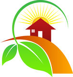 House leaf sun Royalty Free Stock Images