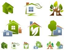 House logo set Royalty Free Stock Images