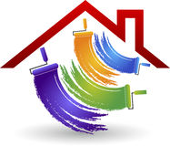 House painting logo Stock Images