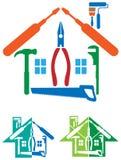 House repair logo Royalty Free Stock Photos